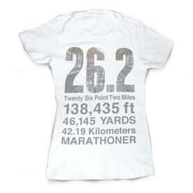 Vintage Running Fitted T-Shirt - 26.2 Math Miles