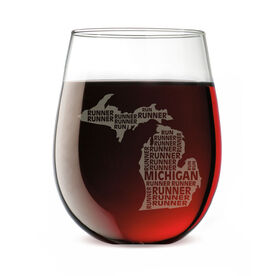 Stemless Wine Glass Michigan State Runner