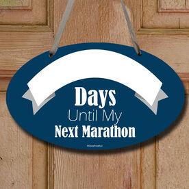 Dry Erase Countdown To My Next Marathon Decorative Oval Sign