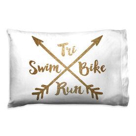 Triathlon Pillowcase - Crossed Arrows