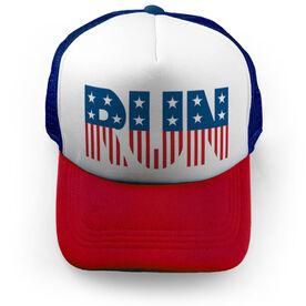 Running Trucker Hat Run Patriotic