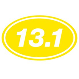 13.1 Oval Running Vinyl Decal