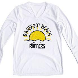 Women's Running Long Sleeve Tech Tee Run Club Barefoot Beach Runners