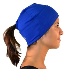 Performance Ponytail Cuff Hat - Blue
