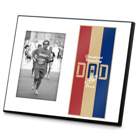 Running Photo Frame - Greatest Dad Stripes