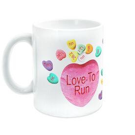 Running Ceramic Mug Running Love to Run (Candy Hearts)