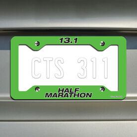 Half Marathon...Running License Plate Holder
