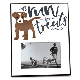 Running Personalized Photo Frame - Will Run For Treats