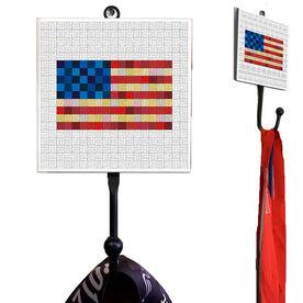 Running Medal Hook - Run Squares Flag