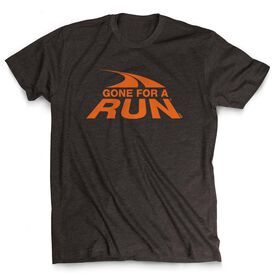Men's Lifestyle Tee  Gone For a Run Logo (Orange)
