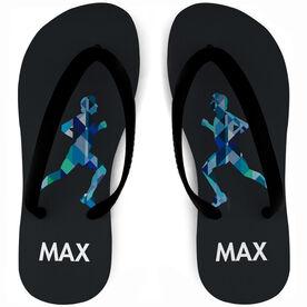 Running Flip Flops Geometric Male Runner