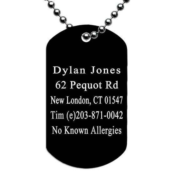 Dog Tag IDmeBAND Necklace