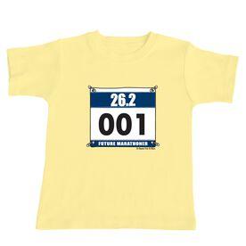 Future Marathoner Race Bib Baby T-shirt