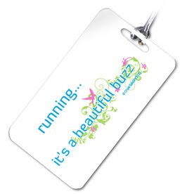 Running...Beautiful Buzz (Blue/Green) Personalized Sport Bag/Luggage Tag