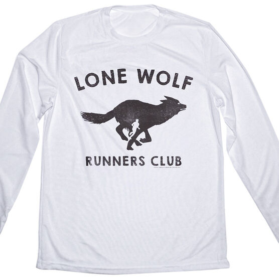 Men's Running Long Sleeve Tech Tee Run Club Lone Wolf