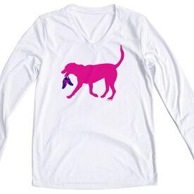 Women's Running Long Sleeve Tech Tee Roxi The Running Dog