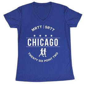 Women's Running Short Sleeve Tech Tee - Chicago 26.2 (MRTT/SRTT)