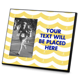 Running Photo Frame Run Girl Waves With Custom Text