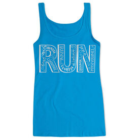 Women's Athletic Tank Top Run With Inspiration