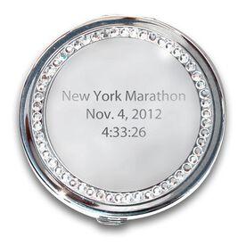 Silver Personalized Marathon Compact Mirror