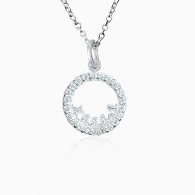 Livia Collection Sterling Silver and Cubic Zirconia Roman Numeral 13.1 Necklace