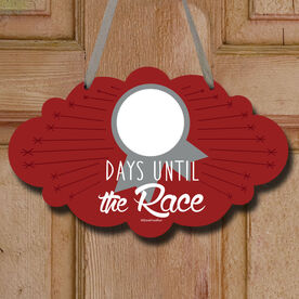 Dry Erase Countdown To The Next Race Decorative Cloud Sign