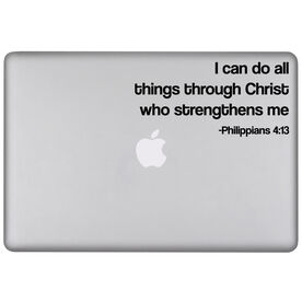 I Can Do All Things Through Christ Removable GoneForaRunGraphix Laptop Decal
