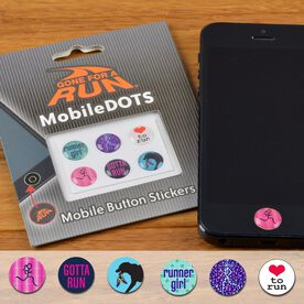 Running Girl MobileDOTS Home Button Sticker for iPhone and iPad