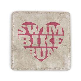 Triathlon Stone Coaster Swim Bike Run