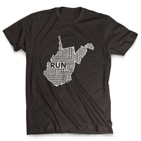 Men's Lifestyle Runners Tee West Virginia State Runner