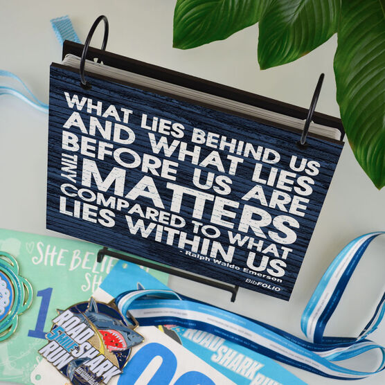 BibFOLIO® Race Bib Album - What Lies Behind Us Rustic