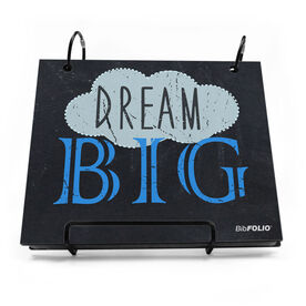 BibFOLIO® Race Bib Album - Dream Big Chalkboard