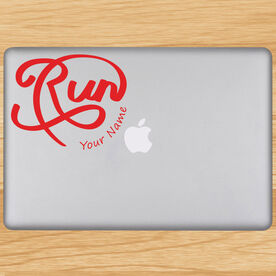 Personalized Run Script Removable GoneForaRunGraphix Laptop Decal