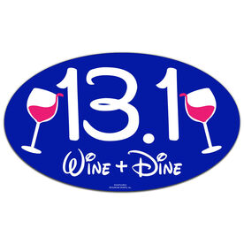 13.1 (Wine) Oval Car Magnet