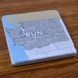 Washington State Runner Stone Coaster