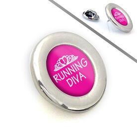 Lapel Pin Running Diva