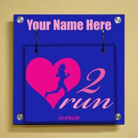 Personalized Heart 2 Run Wall BibFOLIO® Display