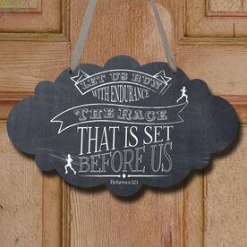 Vintage Let Us Run Decorative Cloud Sign