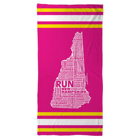 Running Beach Towel New Hampshire State Runner