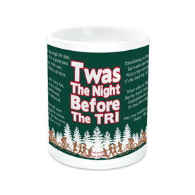 Triathlon Ceramic Mug Twas The Night Before The Tri