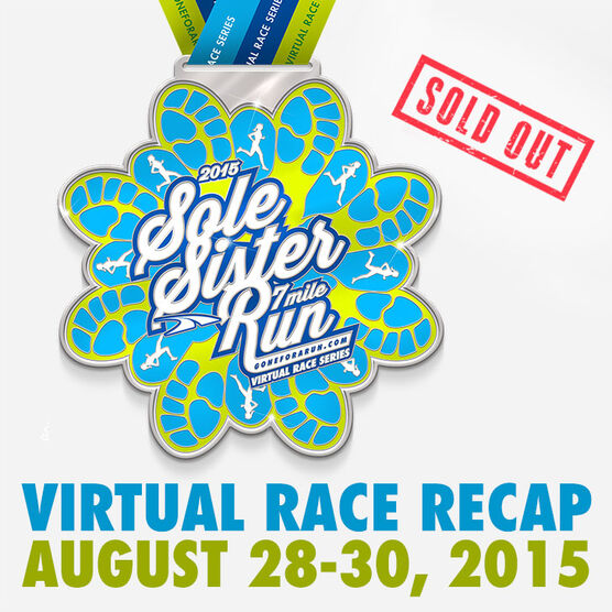Sole Sister Run Virtual 7 Mile Race (Includes FREE Shoe Charm!)