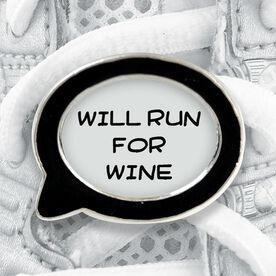 Talk Bubble Shoe Lace Charm Will Run For Wine