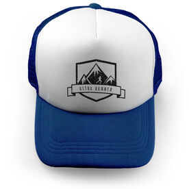 Running Trucker Hat Run Wild Badge With Distances Male Silhouette