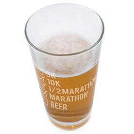 Runners Checklist 20oz Beer Pint Glass