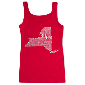 Women's Athletic Tank Top New York State Runner