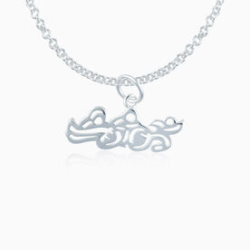 Sterling Silver Swim Bike Run Triathlon Necklace