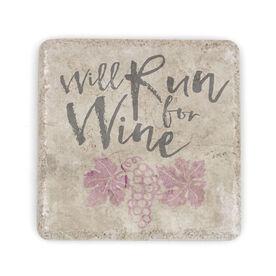Running Stone Coaster Will Run For Wine