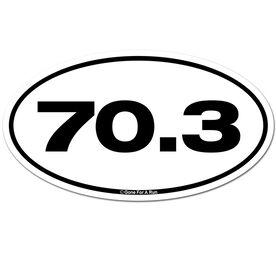 70.3 TRI Car Magnet - White