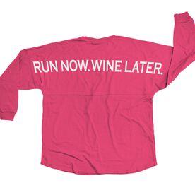 Statement Jersey Shirt Run Now Wine Later