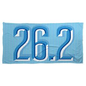 Running Beach Towel 26.2 Marathon (Dimensional)